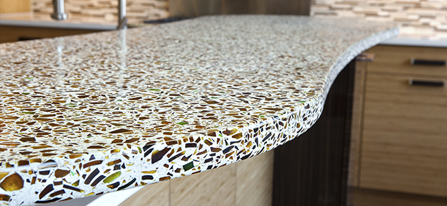 Recycled Glass Countertops in Louisiana
